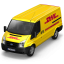 64x64px size png icon of DHL Van Front