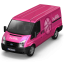 64x64px size png icon of Dribbble Van Front