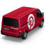64x64px size png icon of Pinterest Van Back