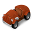 64x64px size png icon of Orange Car