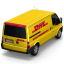64x64px size png icon of DHL Van Back