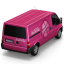 64x64px size png icon of Dribbble Van Back