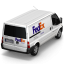64x64px size png icon of FedEx Van Back