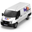 64x64px size png icon of FedEx Van Front