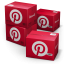 64x64px size png icon of Pinterest Shipping Box