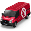 64x64px size png icon of Pinterest Van Front