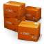 64x64px size png icon of TNT Shipping Box
