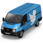 64x64px size png icon of Twitter Van Front