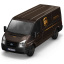64x64px size png icon of UPS Van Front