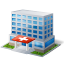 64x64px size png icon of Hospital