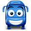 64x64px size png icon of bus blue