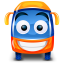 64x64px size png icon of bus orange