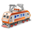 64x64px size png icon of electric locomotive
