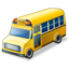 64x64px size png icon of school bus