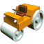 64x64px size png icon of Road roler