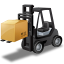 64x64px size png icon of ForkliftTruck Loaded
