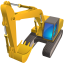 64x64px size png icon of Excavator
