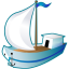 64x64px size png icon of Sailing ship