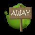 72x72px size png icon of Adium Bird Away