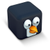 72x72px size png icon of penguin