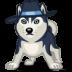72x72px size png icon of dog haski