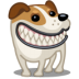 72x72px size png icon of dog russel grin