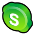 72x72px size png icon of Skype Alternate
