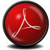 72x72px size png icon of Acrobat Reader 9