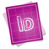 72x72px size png icon of adobe blueprint indesign