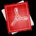 72x72px size png icon of adobe blueprint pdf symbol