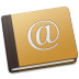 72x72px size png icon of Address Book Oldschool