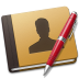 72x72px size png icon of Address Book red