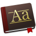 72x72px size png icon of Font Book Alt