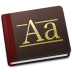 72x72px size png icon of Font Book