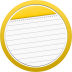 72x72px size png icon of Note