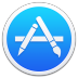 72x72px size png icon of Apple Appstore Border
