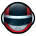 72x72px size png icon of Bioman Avatar 1 Red