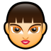 72x72px size png icon of Female Face FA 3