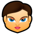 72x72px size png icon of Female Face FB 4