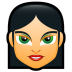 72x72px size png icon of Female Face FC 2