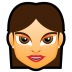72x72px size png icon of Female Face FG 2 brunette