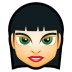 72x72px size png icon of Female Face FI 5