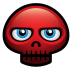 72x72px size png icon of red skull