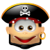 72x72px size png icon of Pirate Smile
