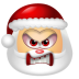 72x72px size png icon of Santa Claus Angry