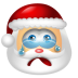 72x72px size png icon of Santa Claus Cry