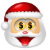 72x72px size png icon of Santa Claus Money