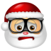 72x72px size png icon of Santa Claus Nerd
