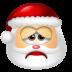 72x72px size png icon of Santa Claus Sad