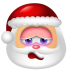 72x72px size png icon of Santa Claus Shy